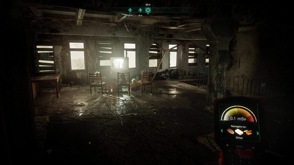 wnętrze budynku w chernobylite