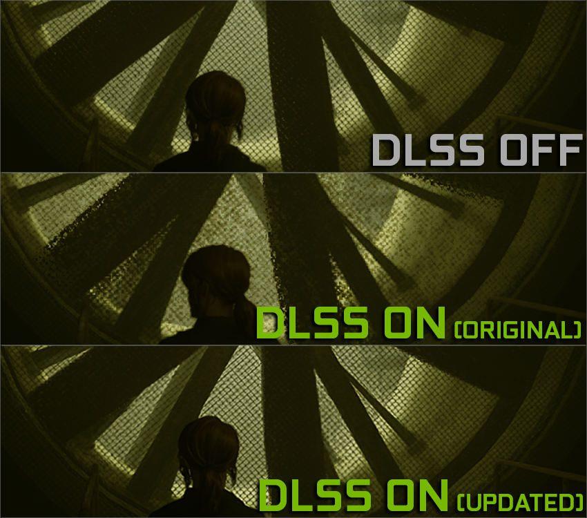 porównanie grafiki w control między dlss 2.0, dlss 1.0 i wyłączoną opcją