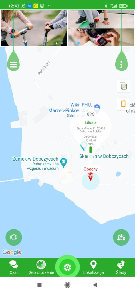 lokalizacja garett tracker