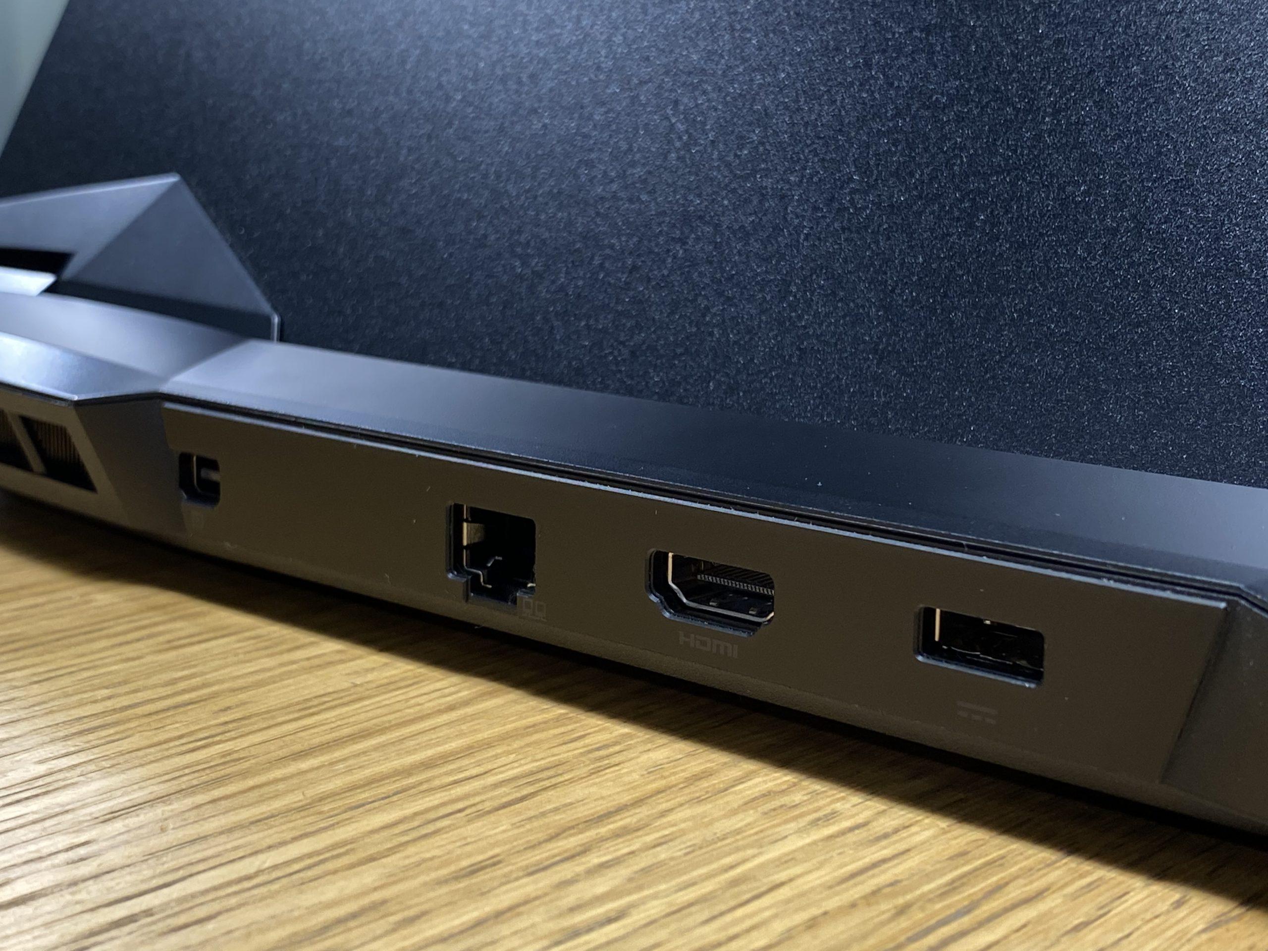 MSI Leopard GP66 porty tył