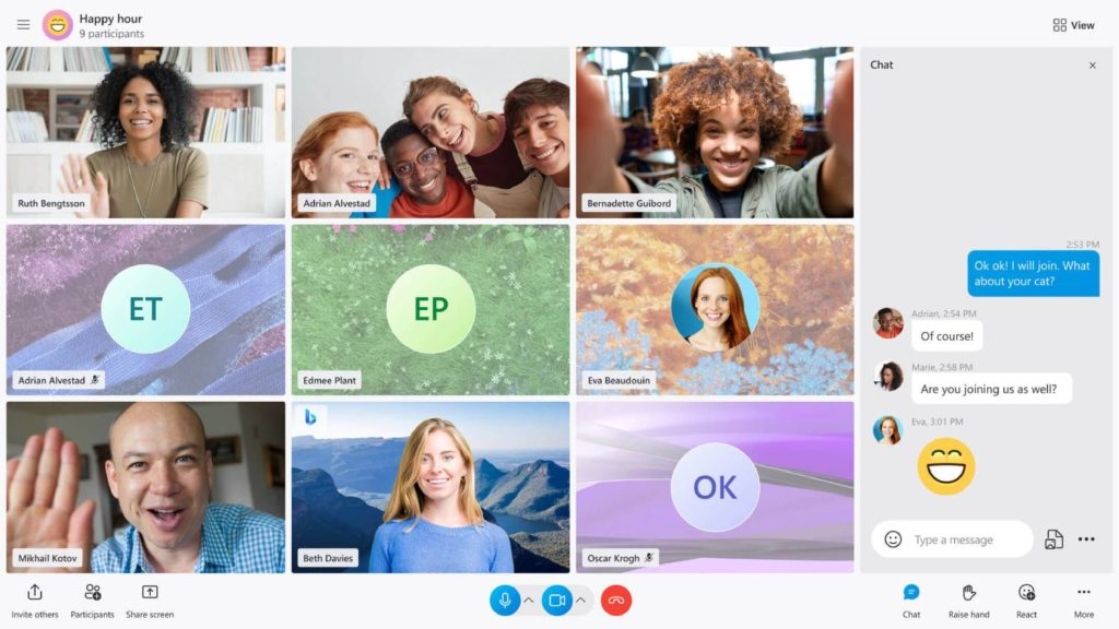 Nowy widok Skype