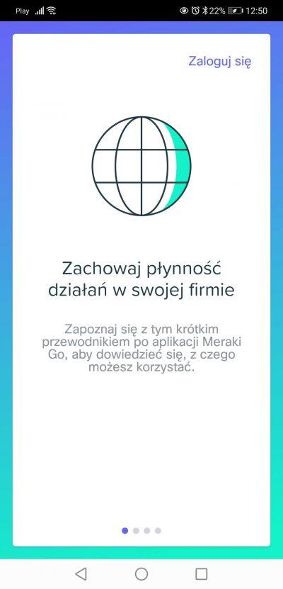 Aplikacja Meraki Go wprowadzenie