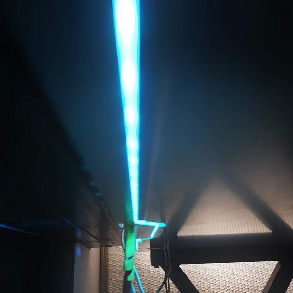 biurko dla gracza silver monkey gd-160 światło led niebieskie